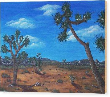 Joshua Tree Desert Wood Print by Anastasiya Malakhova