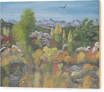 Joshua Tree Park Wood Print by Hilda and Jose Garrancho