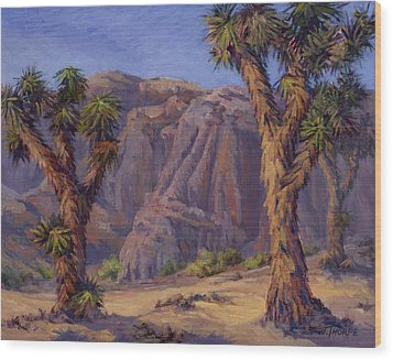 Joshua Trees- Mojave Wood Print by Jane Thorpe