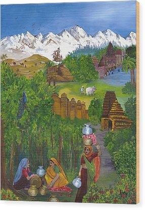 Journey Home Wood Print by Alika Kumar
