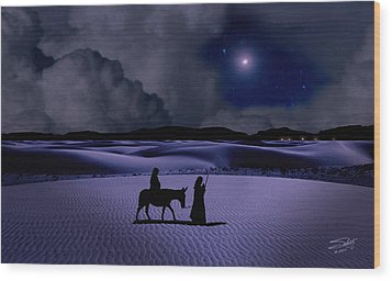 Journey To Bethlehem Wood Print by Schwartz