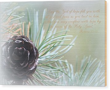 Joy And Peace Wood Print