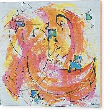 Joy Wood Print by Asha Carolyn Young