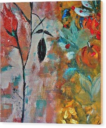 Joy Wood Print by Lisa Kaiser