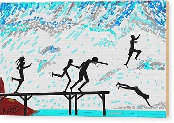 Joy Of Freedom-d Wood Print by Anand Swaroop Manchiraju