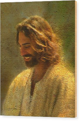 Joy Of The Lord Wood Print by Greg Olsen