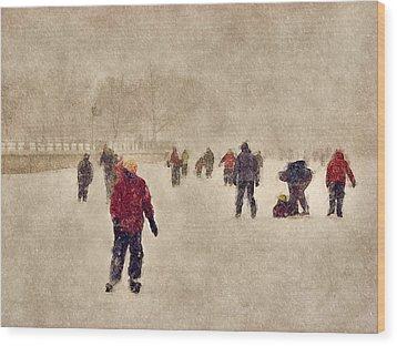Joy Of Winter Wood Print