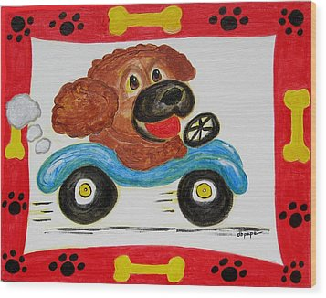 Wood Print featuring the painting Joy Ride by Diane Pape