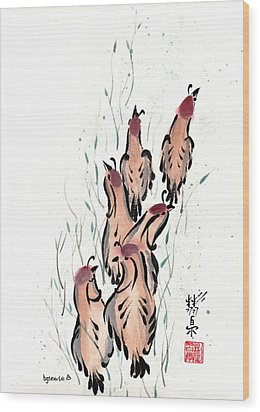 Wood Print featuring the painting Joyful Excursion by Bill Searle