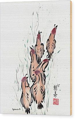 Joyful Excursion Wood Print by Bill Searle