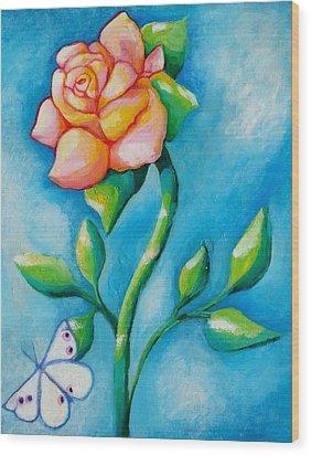 Joyful Garden #2 Top Panel Wood Print