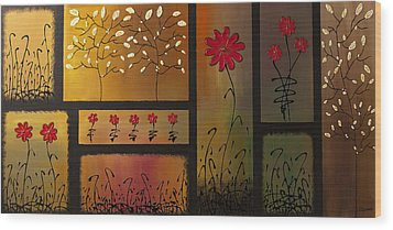 Joyful Garden Wood Print