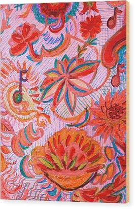 Joyful Joyful Wood Print by Anne-Elizabeth Whiteway