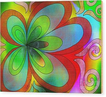Joyful Peace - Paix Joyeuse Wood Print by Louise Lamirande