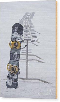 Joyride Wood Print by Evelina Kremsdorf