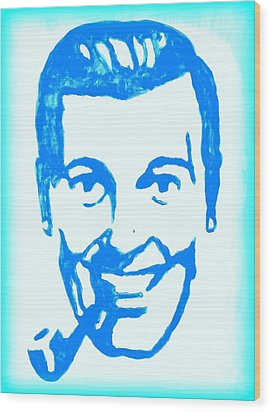 J.r. Bob Dobbs Pop Art Church Subgenius Wood Print by Bob Baker