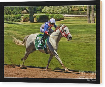 Juan Sanchez On Horse Sammy V  Wood Print by Blake Richards