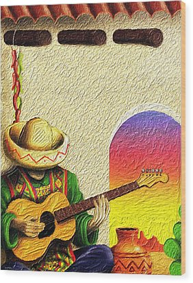 Juan's Song Wood Print by Tyler Robbins