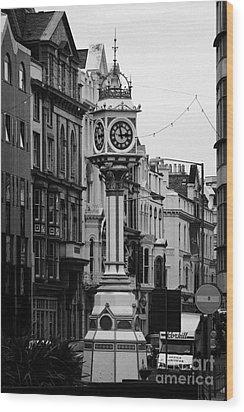 Jubilee Clock For Queen Victorias Golden Jubilee Douglas Isle Of Man Wood Print by Joe Fox