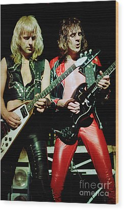 Judas Priest At The Warfield Theater During British Steel Tour Wood Print