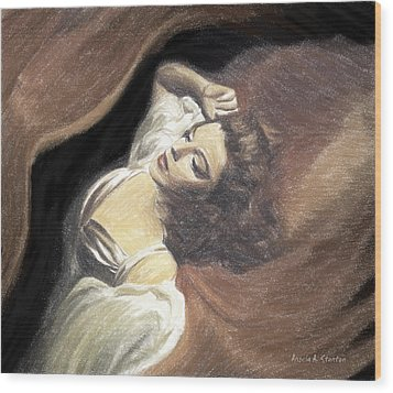 Judy Garland - Beauty Dream Wood Print by Angela A Stanton