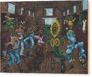 Jug Band  Wood Print