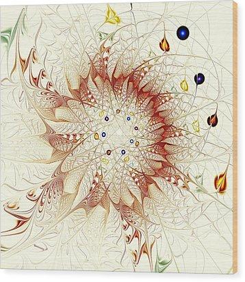 Juggle Wood Print by Anastasiya Malakhova