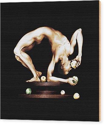Juggler Wood Print by Alex Tavshunsky