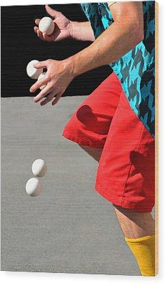 Juggler Wood Print by Diana Angstadt