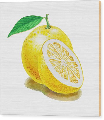 Wood Print featuring the painting Juicy Grapefruit by Irina Sztukowski