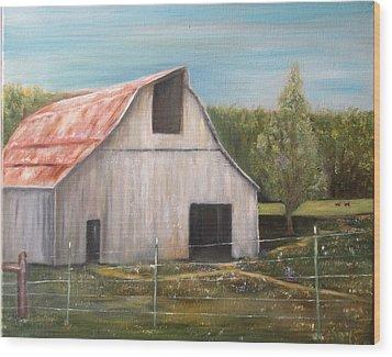 Julian Homestead Barn Wood Print