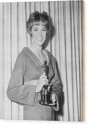Julie Andrews, With Her Best Actress Wood Print by Everett