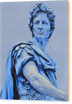Julius Caesar Wood Print by Victor Minca