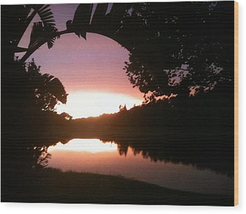 July Florida Sunset Wood Print