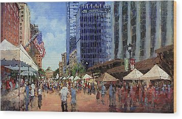 July Fourth In The Capital Wood Print by Dan Nelson