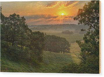 July Morning Along The Ridge Wood Print by Bruce Morrison