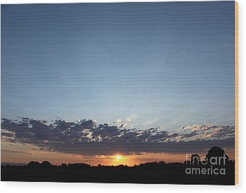 July Sunset Wood Print by Erica Hanel