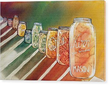 July's Harvest Wood Print by Starr Weems