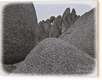 Jumbo Rocks Wood Print