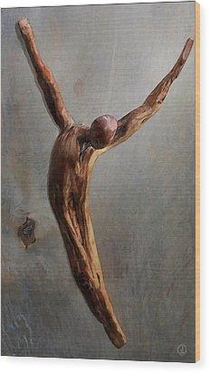 Jump Wood Print by Gun Legler