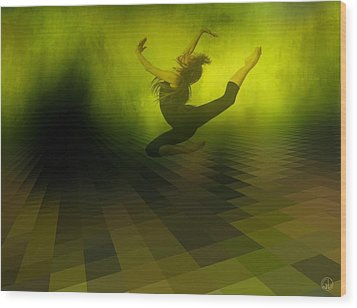 Jumping In Wood Print by Gun Legler