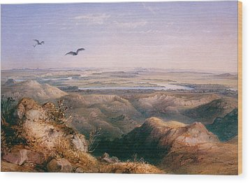 Junction Of The Yellowstone And The Issouri Wood Print by Karl Bodmer