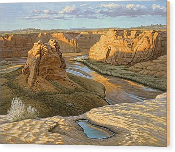 Junction Overlook - Canyon Dechelly Wood Print by Paul Krapf