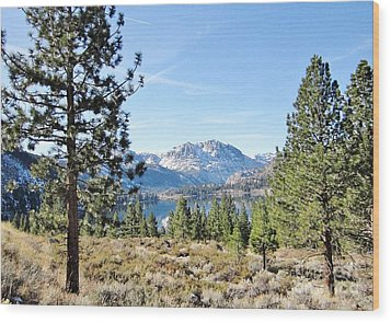 Wood Print featuring the photograph June Lake by Marilyn Diaz