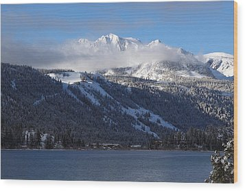 June Lake Winter Wood Print by Duncan Selby