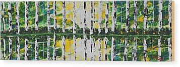 June Wood Print by Patricia Olson
