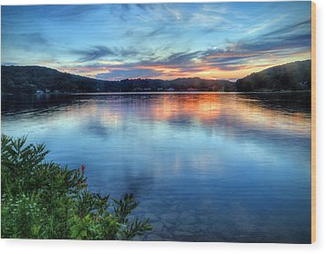 Wood Print featuring the photograph June Sunset by Jaki Miller