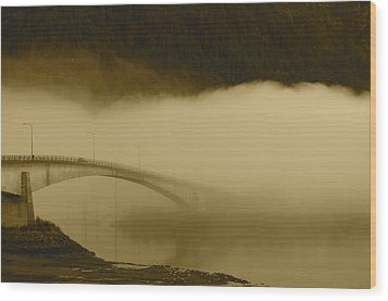 Juneau - Douglas Bridge Wood Print by Cathy Mahnke