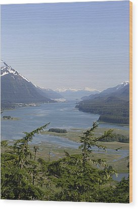 Juneau's Scenic Port Wood Print by Cindy Croal