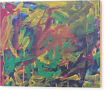 Jungle Wood Print